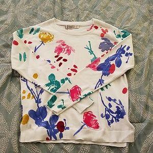 Multicolor, floral sweater